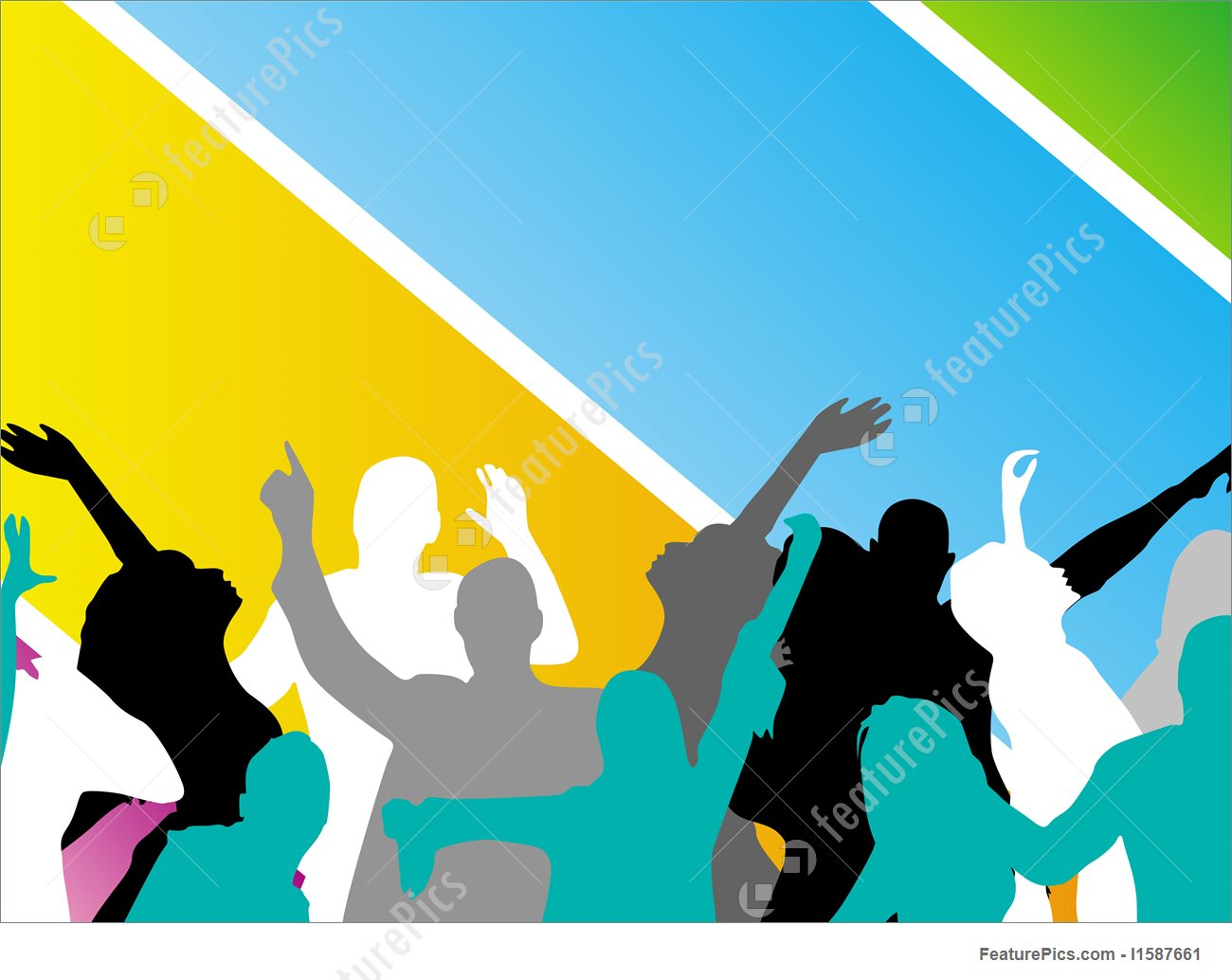 1300x1034 Young People Having Fun, Vector Stock Illustration I1587661