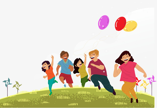 650x449 Cheerful Young People Vector, Balloon, Lawn, Run Png And Vector
