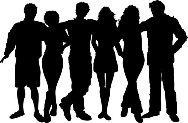 600x394 Creative Young People Silhouettes Vector Graphics My Free