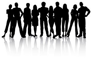 300x191 Free The Trend Of Young People Silhouette Clipart And Vector