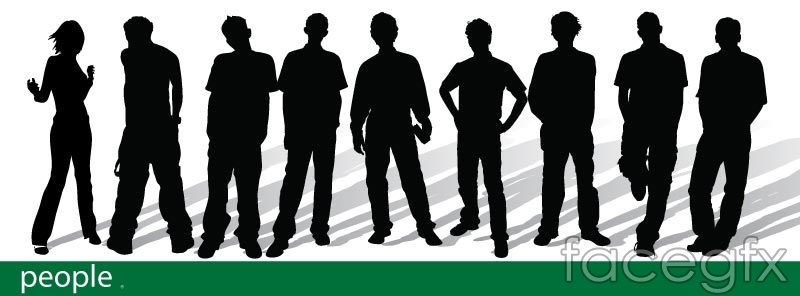 800x296 Trends Youth Silhouettes Vector Over Millions Vectors, Stock