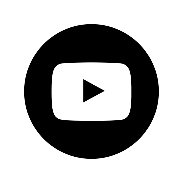 640x640 Youtube Black Ampamp White Icon, Youtube, You, Tube Png And Vector