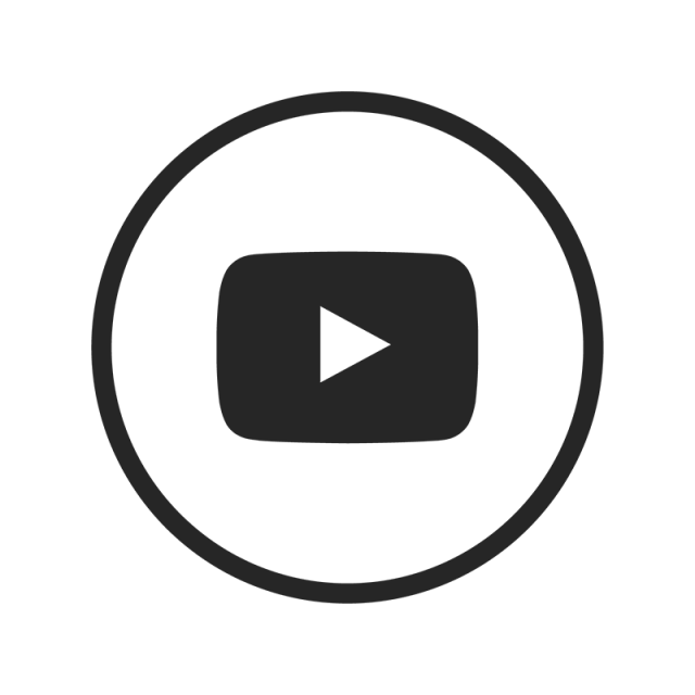 640x640 Youtube Icon, Youtube, Black, White Png And Vector For Free Download