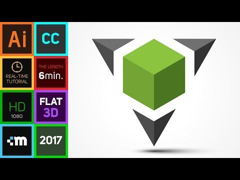 480x360 How To Create 3d Logo Design In Adobe Illustrator Cc Hd Square