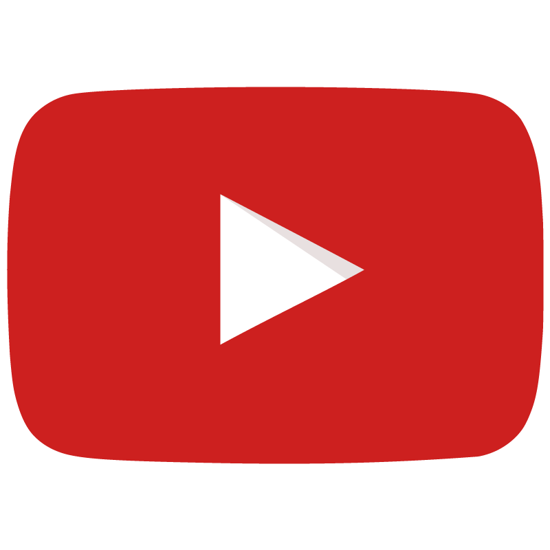 800x800 Youtube Icon Flat Red Play Button Logo Vector Free Vector