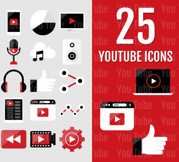 585x529 Youtube Icons Free Svg, Ai, Vector Eps Format Download