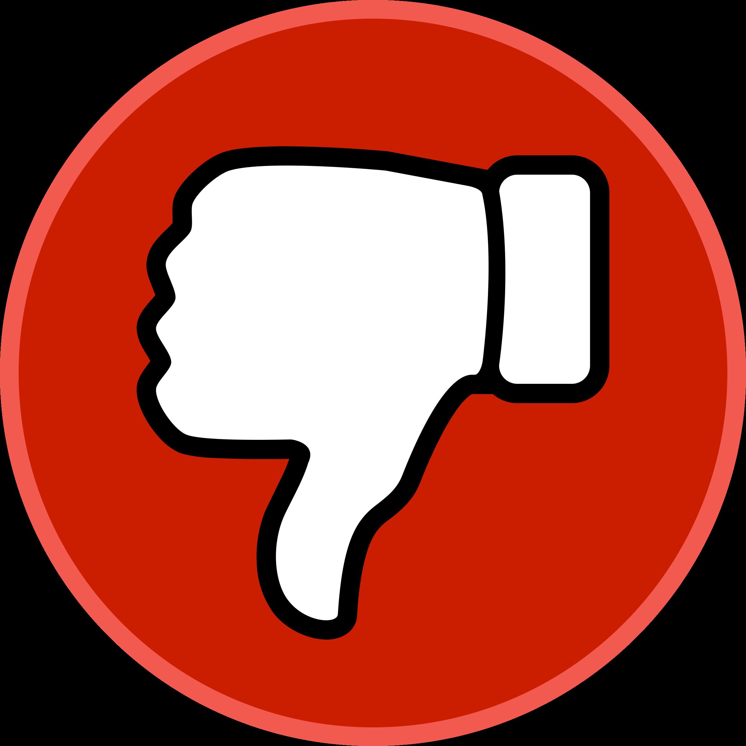 2400x2400 Youtube Dislike Vector Png
