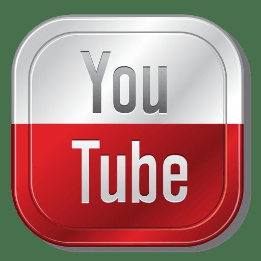 512x512 Youtube Metallic Button