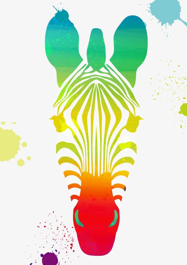650x919 Vector Zebra Head, Head Vector, Zebra, Color Zebra Png And Vector