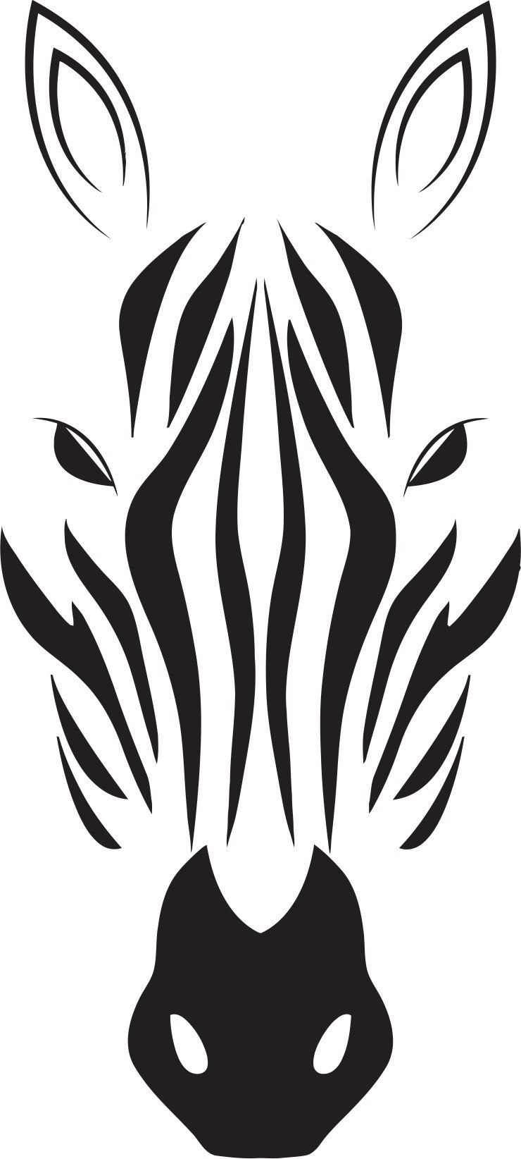740x1644 Zebra Print Vector Download Free Vector For Cnc And Laser