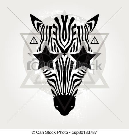 450x470 Zebra Head. Tribal Pattern. Zebra Head Tribal Pattern. Abstract