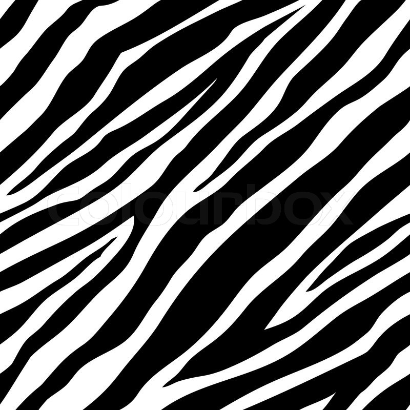800x800 Seamless Zebra Pattern Stock Vector Colourbox