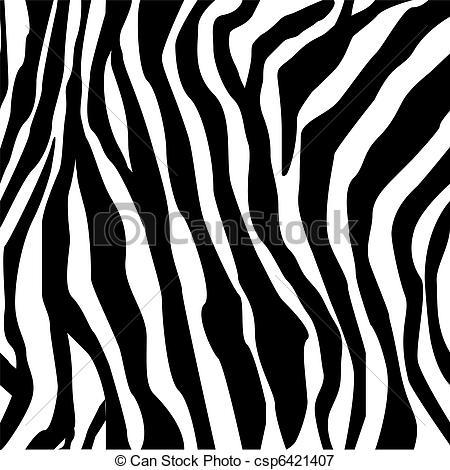 450x470 Zebra Print Hand Drawn Black On White.