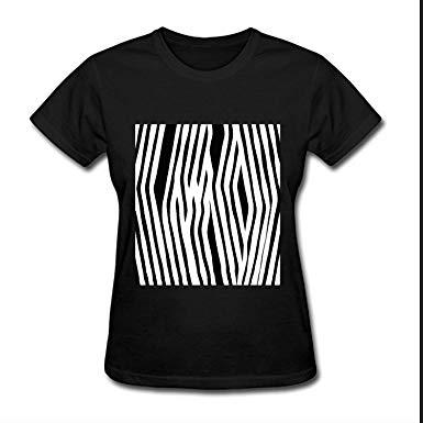 385x385 Greicmn Zebra Print Vector Female Summer Casual Tee