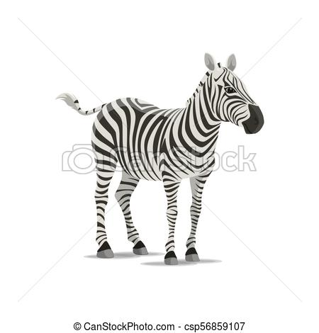 450x470 Zebra Vector Sketch Exotic Animal Icon. Zebra Animal Icon. Vector