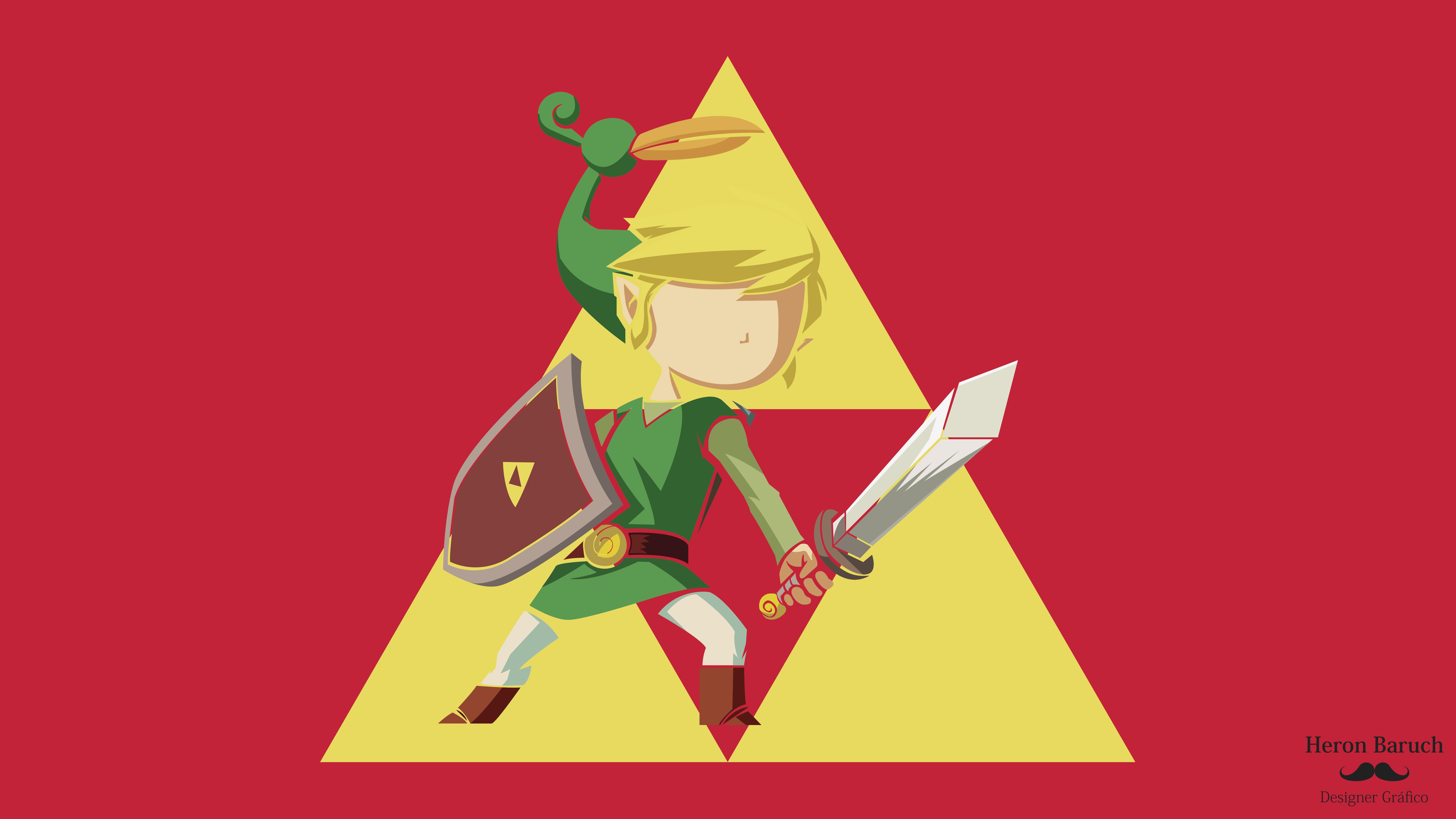 8000x4500 The Legend Of Zelda Minish Cap, Vector Art.