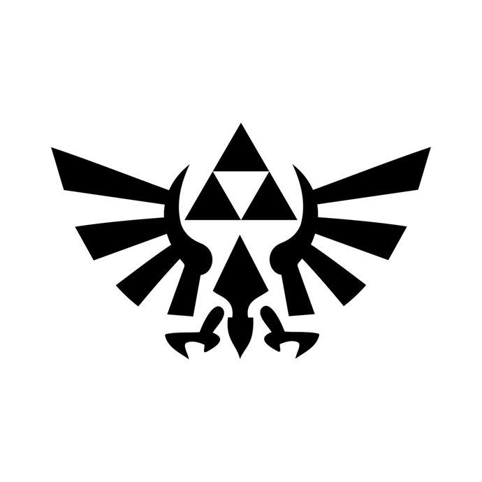690x690 Zelda Triforce Of Hyrule Graphics Design Svg By Vectordesign On Zibbet