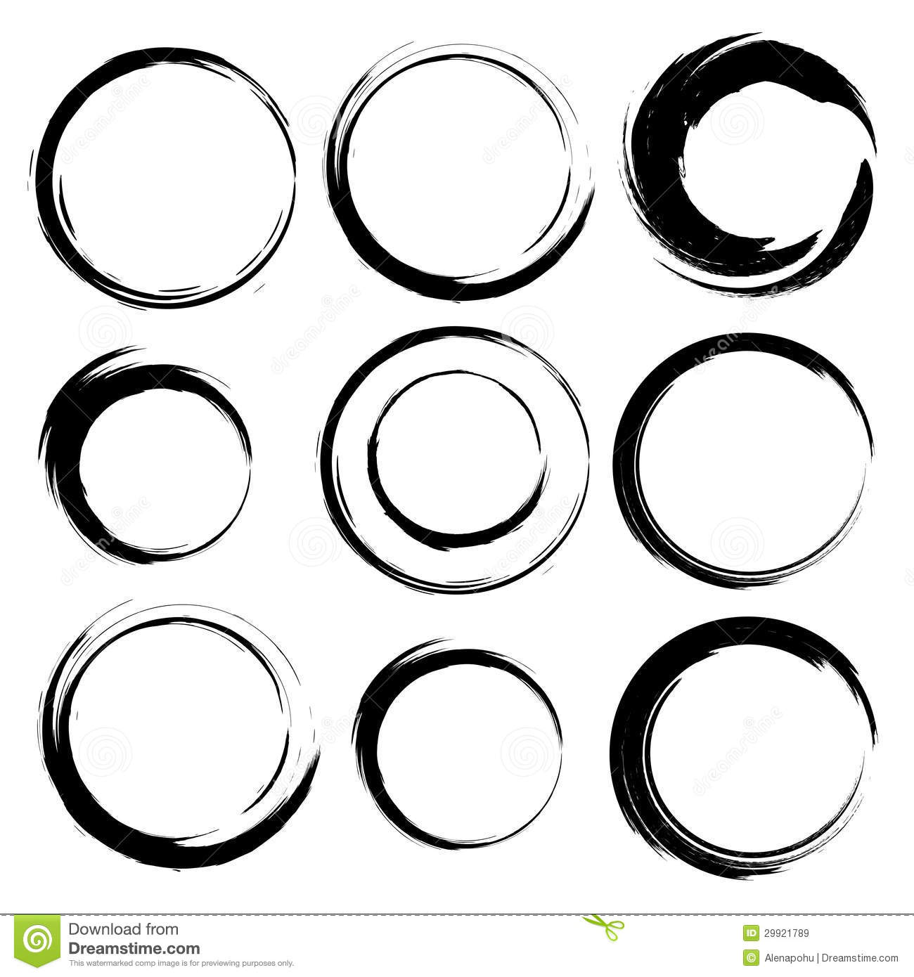 1300x1390 Circle Clipart Brush Stroke