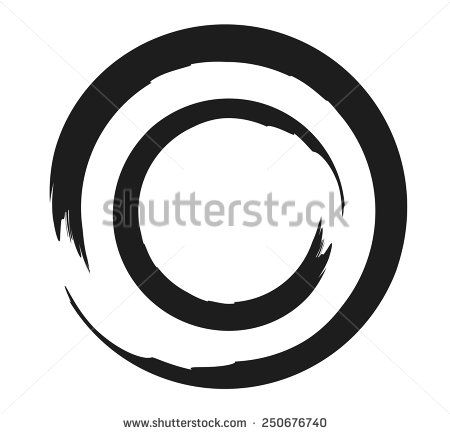 450x434 Double Zen Or Enso Circle Vector Illustration Which Has Many