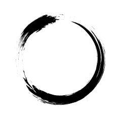 235x235 Enso Circular Brush Stroke (Japanese Zen Circle Calligraphy