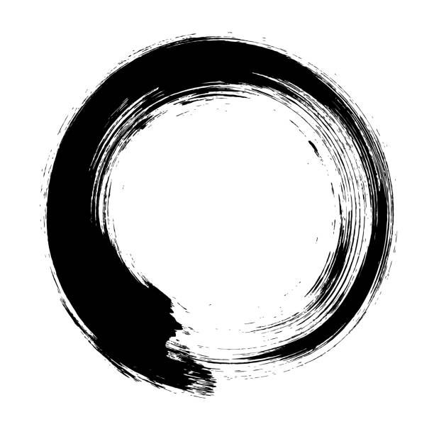 612x612 Enso Circular Brush Stroke (Japanese Zen Circle Calligraphy