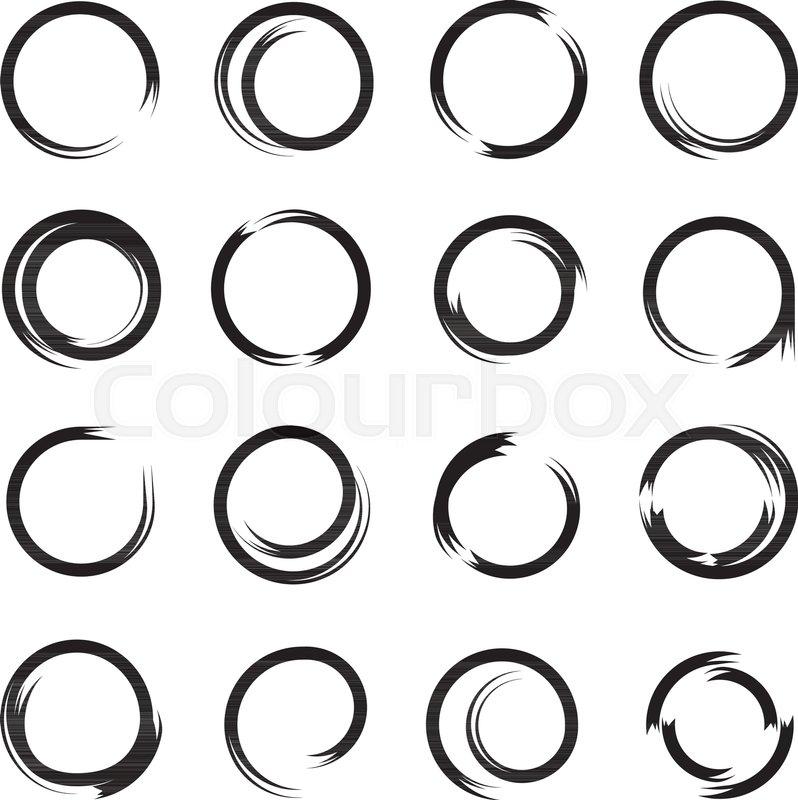 798x800 Black Grunge Circle, Zen Circle Stock Vector Colourbox