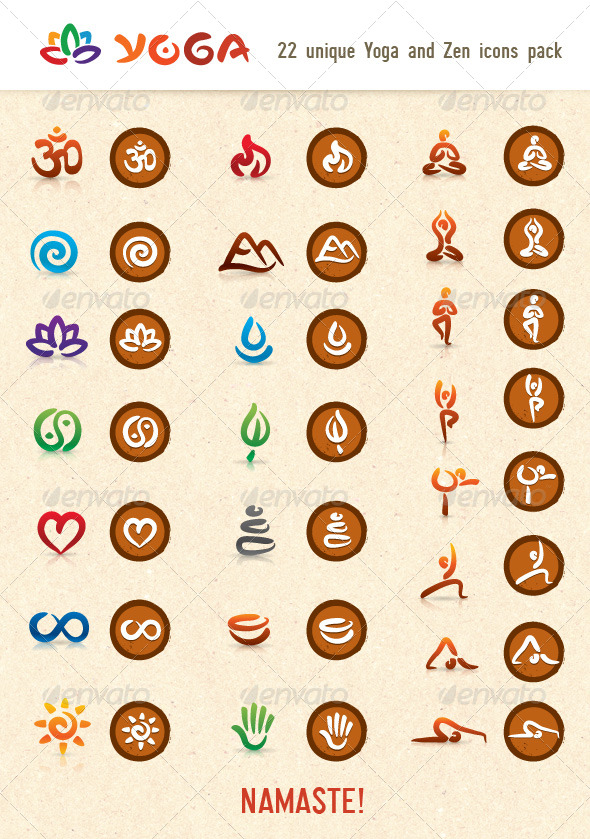 590x839 Hatha Yoga And Zen Vector Icons Pack By Subtropica Graphicriver