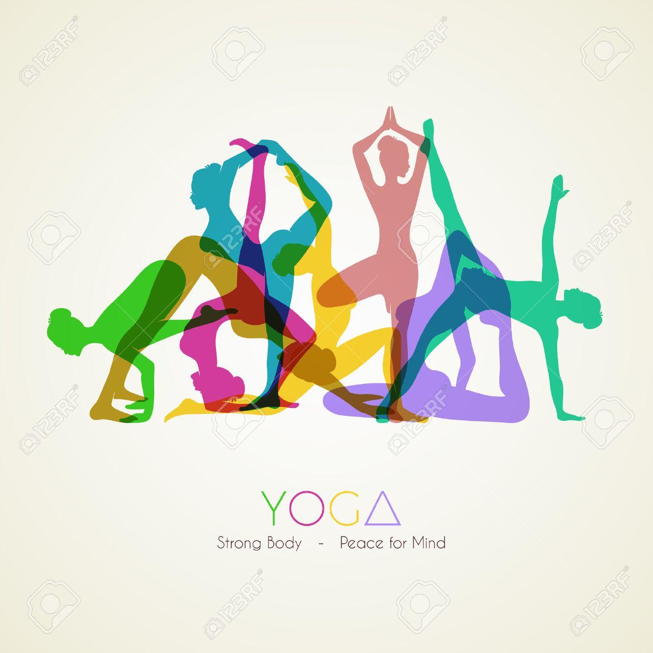 1300x1300 Yoga Position, Asana Meditation, Mindfulness, Zen. Vector Linear