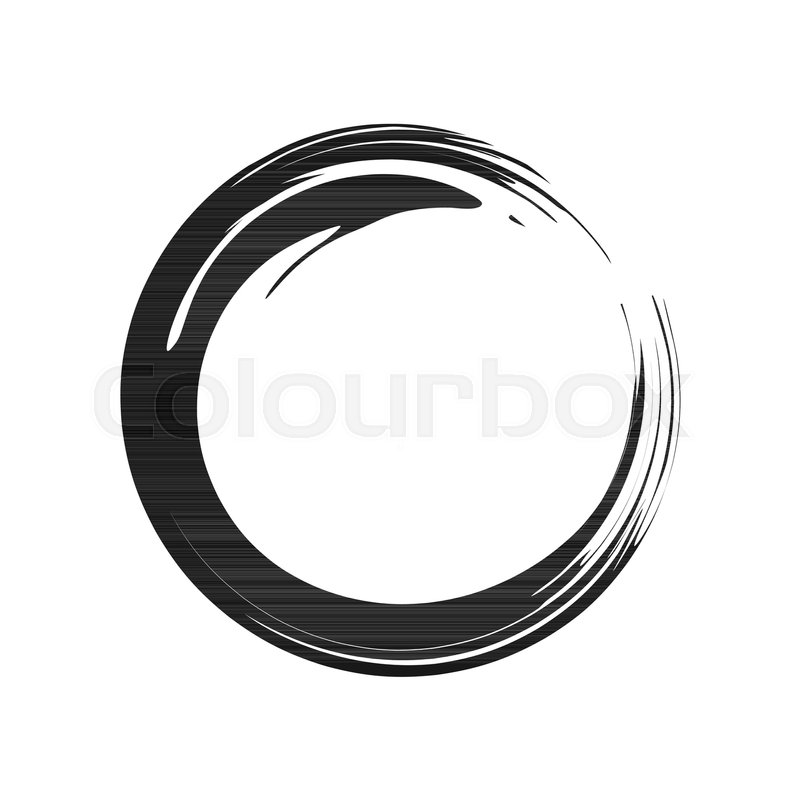800x800 Zen Symbol Abstract Brush Vector Graphic Design Stock Vector