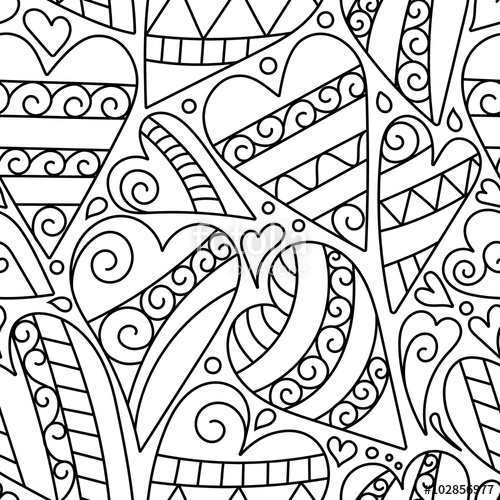 500x500 Hand Drawn Artistically Ethnic Ornamental Seamless Pattern With