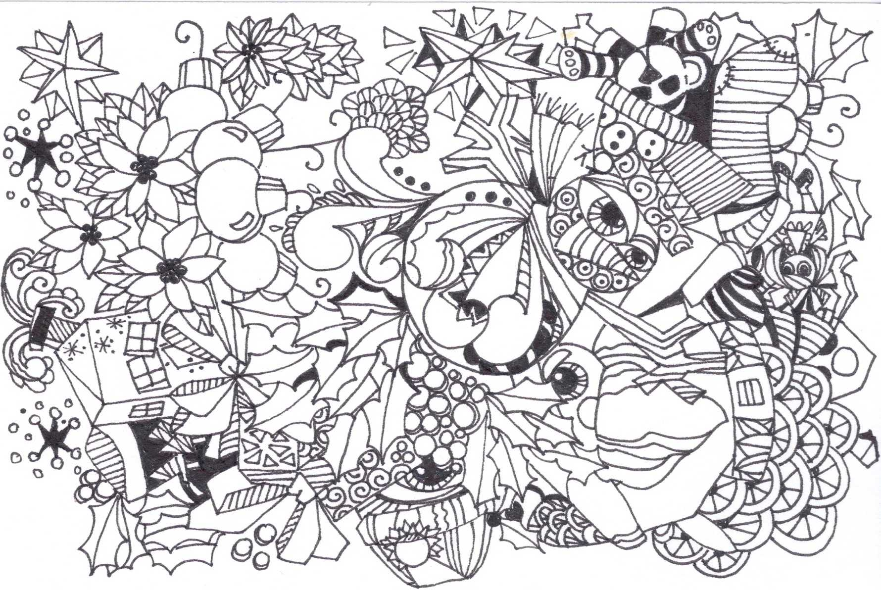 1780x1192 Collection Of Christmas Zentangle Coloring Pages Download Them