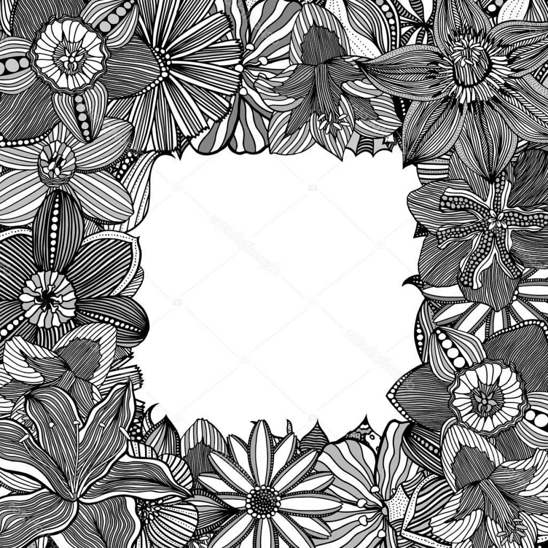 1228x1228 Stock Illustration Floral Zentangle Vector Illustration Createmepink