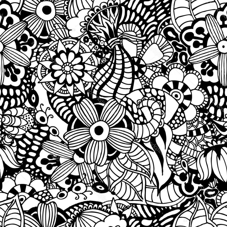 1228x1228 Stock Illustration Zentangle Vector Floral Background Createmepink
