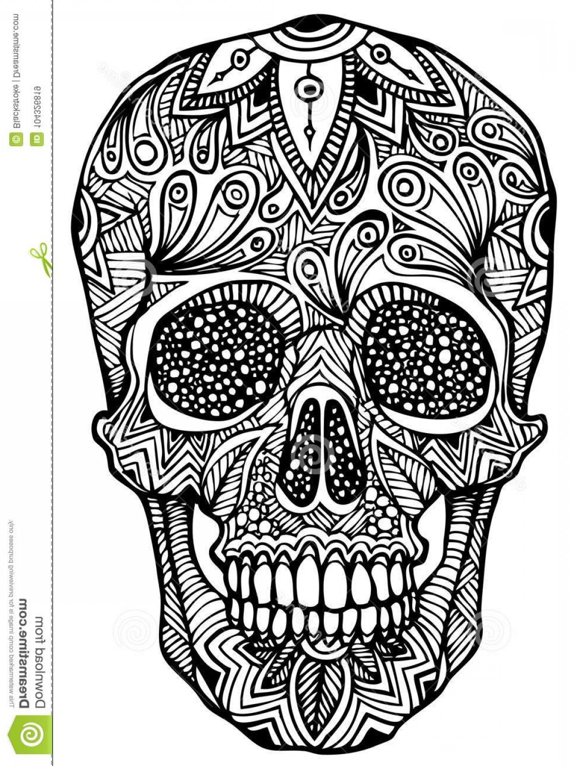 1176x1560 Zentangle Vector File Authentic Patterns File Zentangle Skull