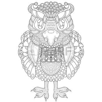 350x350 Zentangle Vector Pattern With Totem Animal