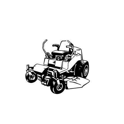 432x432 Zero Turn Mower Lawn Mower Outline Svg Digital Download Cuttable