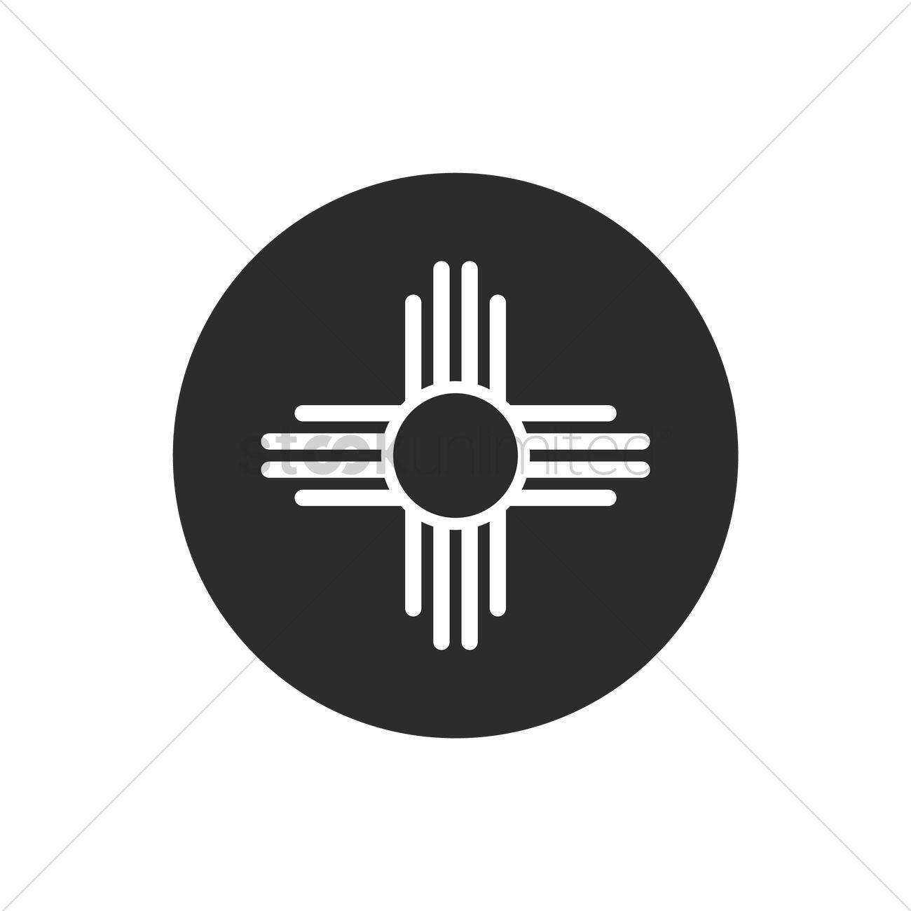 1300x1300 Zia Symbol Vector Image
