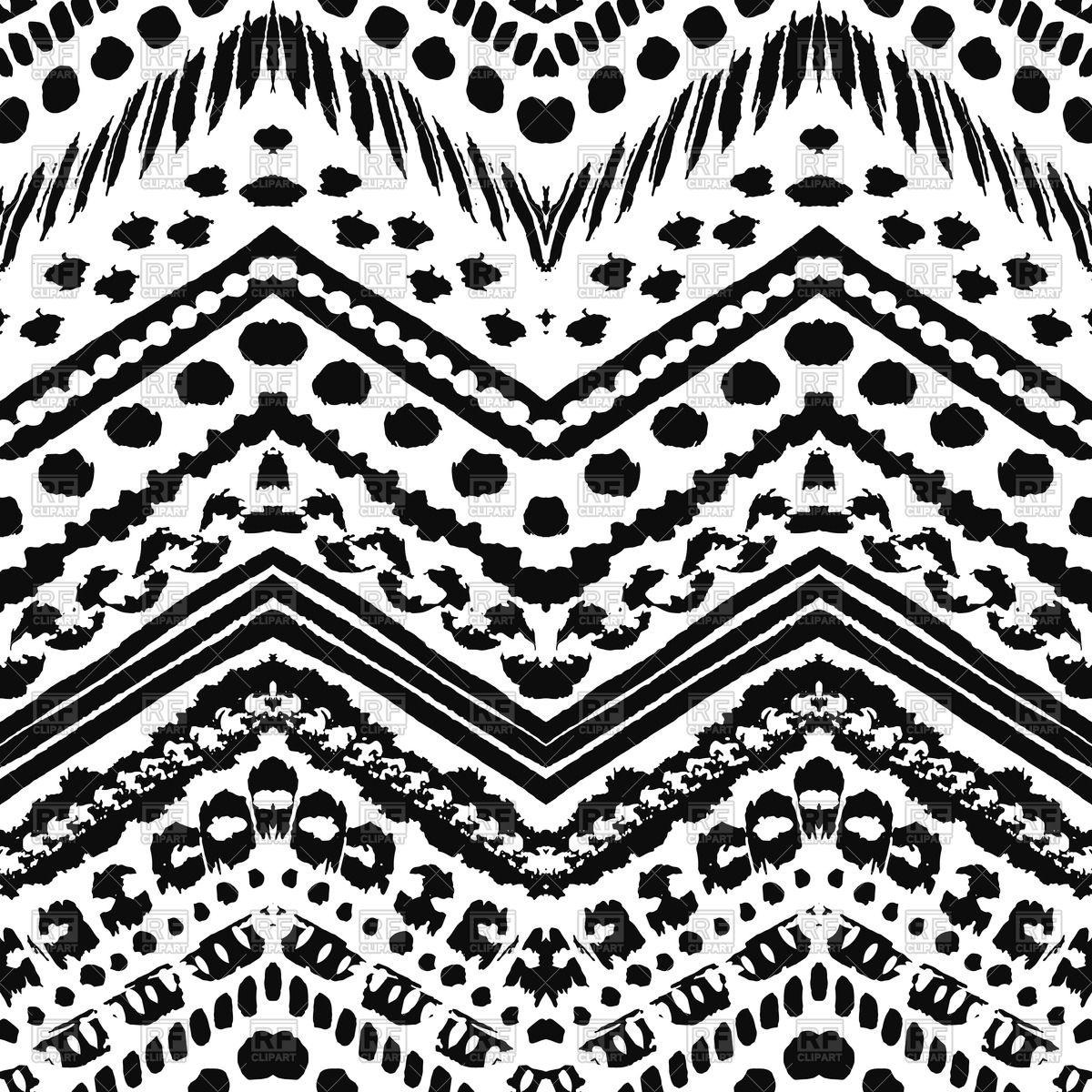 1200x1200 Hand Drawn Seamless Zig Zag Pattern Vector Image Vector Artwork
