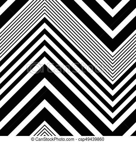 450x470 Seamless Zigzag Pattern. Abstract Black And White Background