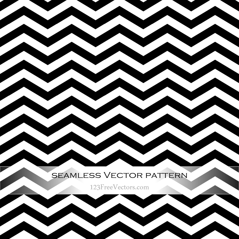 800x800 Black And White Zigzag Pattern Vector 123freevectors