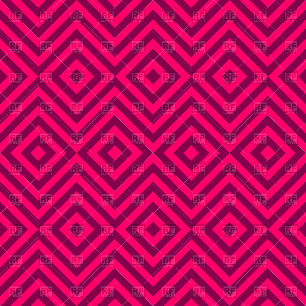 1200x1200 Hand Drawn Pink Seamless Ethnic Pattern With Zig Zag Vector Image