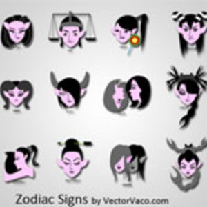 300x300 Zodiac Signs Vector