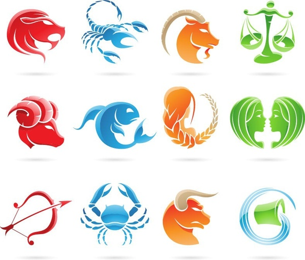 600x511 Set Of 12 Zodiac Signs Vector Graphic Free Vector In Encapsulated