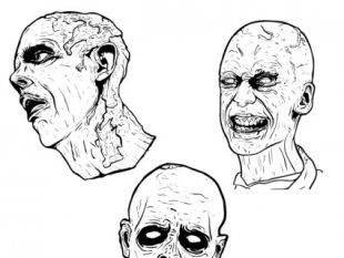 310x233 Scary Zombie Face Vector Graphics Free Vectors Ui Download