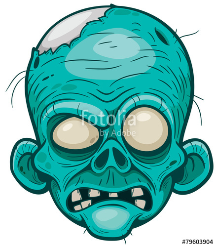 438x500 Vector Illustration Of Cartoon Zombie Face Stock Image And