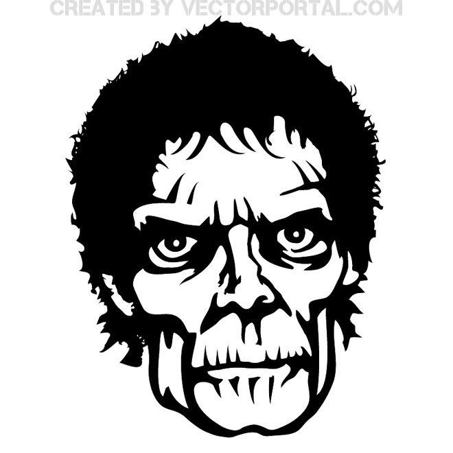 660x660 Zombie Face Free Vector 123freevectors