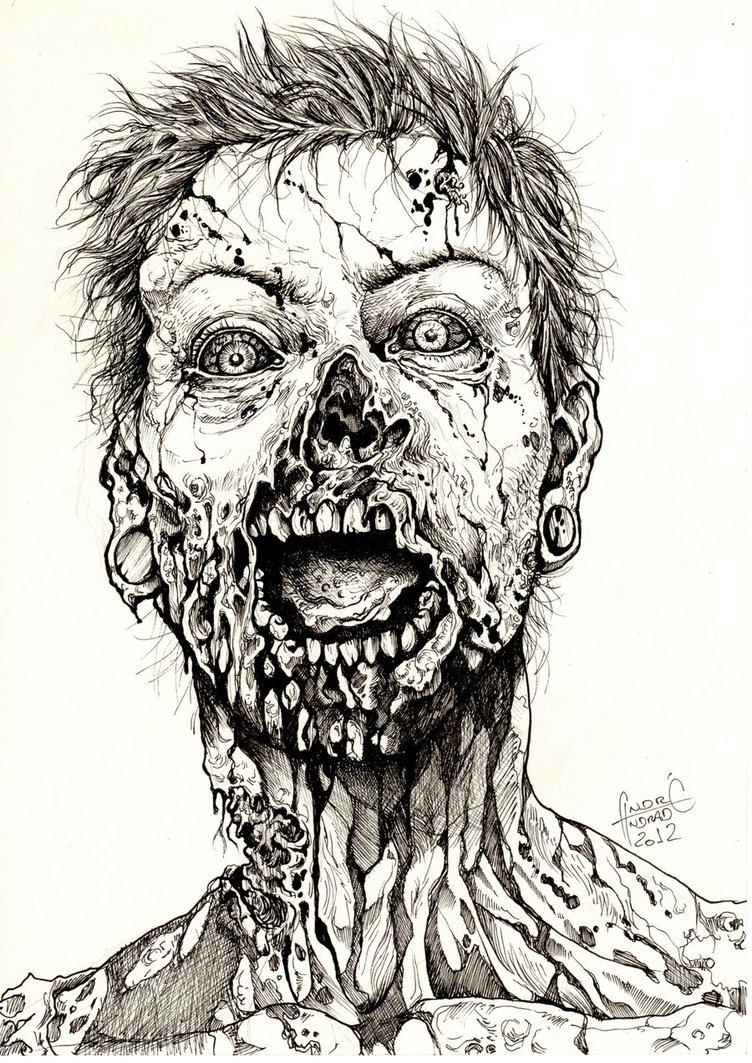 752x1063 Zombie Face Vector