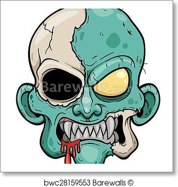 362x382 Art Print Of Zombie Face Barewalls Posters Amp Prints Bwc28159553