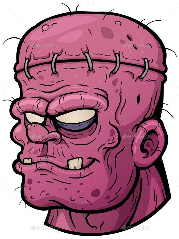 590x787 Zombie By Sararoom Vector Illustration Of Cartoon Zombie Face