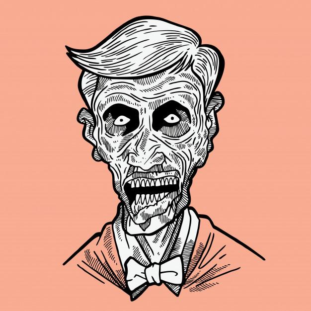 626x626 Zombie Face Vector Premium Download